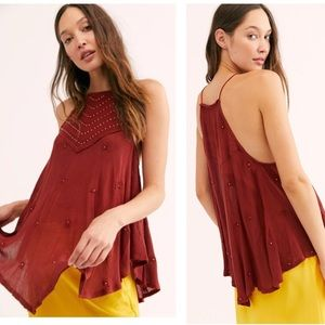 New Free People Sultry Nights Embellished Tunic